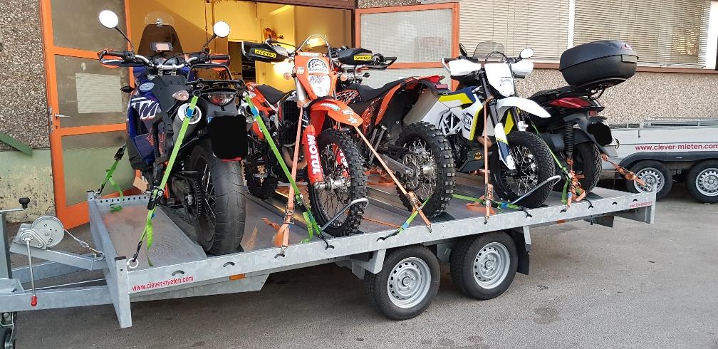 Neu bei uns Motorradanhänger bis zu 6 Mopeds!!!